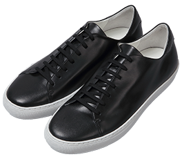 Lace-up Leather Sneakers / Black