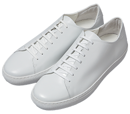 Lace-up Leather Sneakers / White